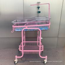Lit de bébé en acier transparent pour hôpital