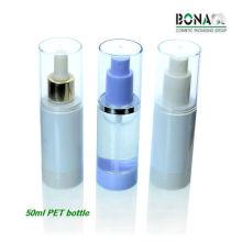 2016 venda quente 50 ml rodada em forma de spray de plástico garrafa pet