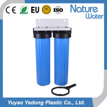 2 Stage Big Blue Water Filter with Steel Bracket for Home Use