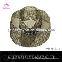 Chapéus de cowboy grossos de palha Chapéus de palha de agricultores Chapéu de cowboy de palha
