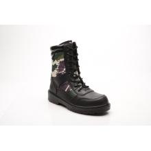 Nouveau conçu en cuir lisse de vente chaude & tissu bottes de sécurité (HQ6002)
