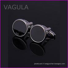 VAGULA qualité Onyx Gemelos mariage brassard liens nouveaux boutons de manchettes (HL62272)