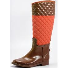 Коричневый и оранжевый квадрат сетки зимняя резина дождь сапоги