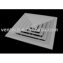 4-way ceiling diffuser