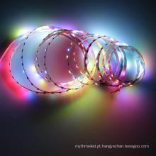 O pixel digital do luminoso da tira dc5v do rgb do brilho alto conduziu a luz