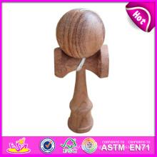 Kendama en bois drôle intelligent pour des enfants, jouet en bois Kendama pour des enfants, jouet en bois de Kendama avec 18.5 * 6 * 7cm W01A022
