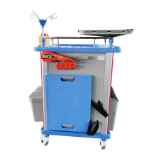 Storage Hospital Emergency Trolley ABS Material Anaesthesia Cart