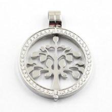Nuevo diseño lateral abierto Locket con Tree of Life Coin para collar colgante