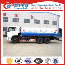 Hot sale right hand dirve 6x4 18000 liter water tank truck in china