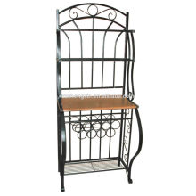 Home Retro Metal Storage Rack, Display Rack Steel Tube