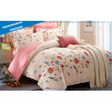 Frühling und Sommer 100% Baumwoll-Blumen-Bettbezug-Set