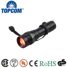 Lanterna lanterna de caça de porco lanterna de caça de luz vermelha / zoomable Q5 LED 3 luzes de cor vermelha de caça lanterna