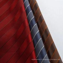 Prix de tissu de lin de durabilité jacquard uni pour un usage domestique