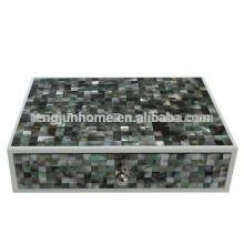 Schwarze Perlmutt-Aufbewahrungsbox für Hotel-Ausstattung