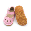 Rosa PU-Leder Squeaky Schuhe