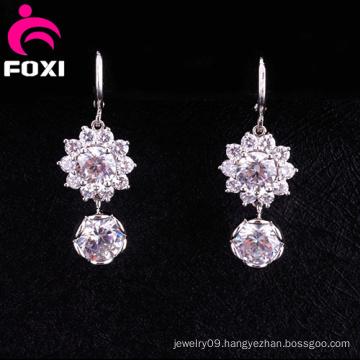 Shining Diamond Fancy Design Hanging Earrings