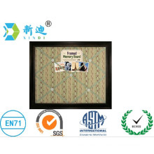 fabric cork boards with black frame