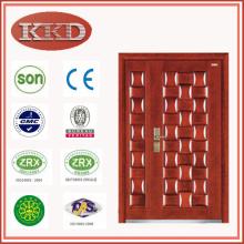 Dekorative Stahles Holz gepanzerte Tür JKD-G322B für Wohn-Sicherheit