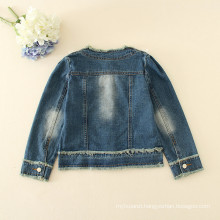 children jeans winter appliqued flowers jackets girls high quality jeans outfit autumn fashion jeans jackets wholesale