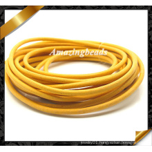 Bracelet Leather Cord, Yellow Real Leather String, Genuine Cow Leather Wholesale for Fashion Bracelet (RF050)