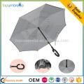 coupe-vent c poignée à l'envers double couche parapluie inversé