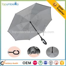 ветрозащитный с ручкой вверх дном двойной слой перевернутый зонтик