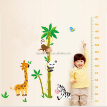 Colorful Wall Sticker Chart Height Measurement