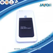 Estampado de logotipo Bolsillo de tarjeta de silicona Monedero de teléfono inteligente