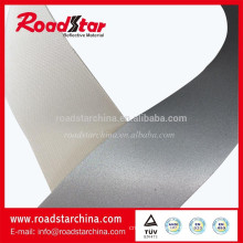 High visible silver reflective PVC leather