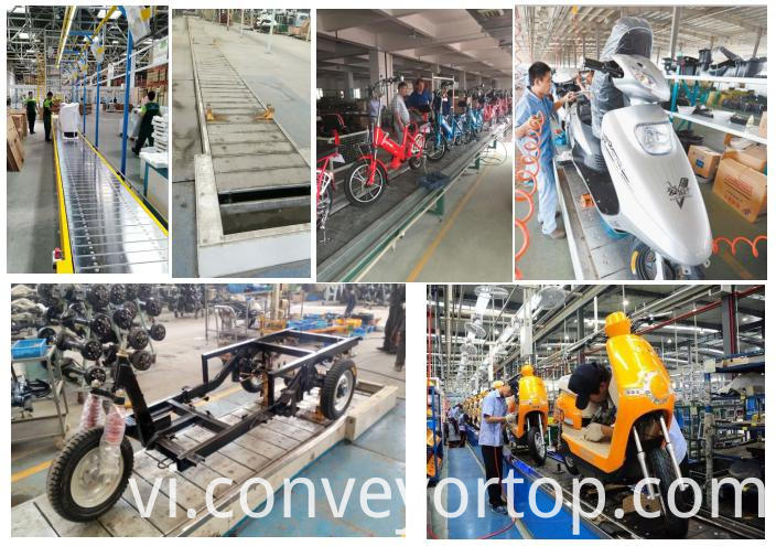 slat chain conveyor assembly line