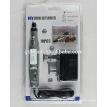 DC Cordless Portable Engraving Carver Hobby Rotary Power Tools Kits Drill 10pcs Electric 18v Mini Grinder