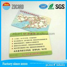Cartão de sociedade impresso personalizado do presente do cartão do PVC do plástico