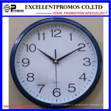 Nouveau style 12inch Logo impression ronde en plastique Wall Clock (EP-Item12)