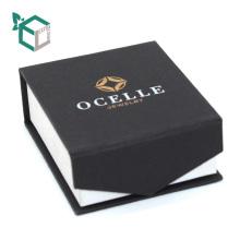 Магнитная застежка черный Логос штемпелюя коробки ювелирных изделий