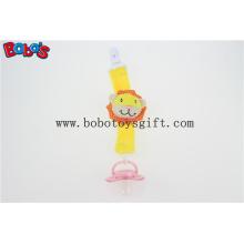Plüsch Gelber Löwe Säugling Spielzeug Baby Schnuller Clip Soother Halter für Baby Bosw1051