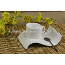 Chaozhou porcelana copos de chá por atacado e pires