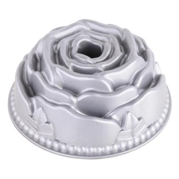 bakeware die-cast aluminium mini rose cake pan
