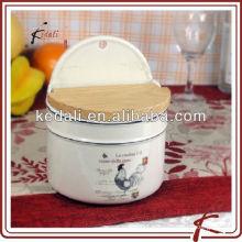 Récipients de stockage de céramique avec conception de poulet