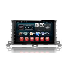 Kaier usine + Quad core Plein tactile Android 4.4.2 voiture dvd pour Toyota Highlander 2015 + OEM + 1024 * 600 + lien miroir + TPMS