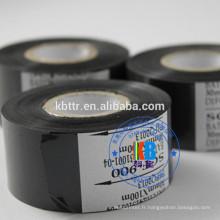 Ruban à code de date en aluminium pour marquage à chaud de couleur noire pour lot de date de péremption, sans impression
