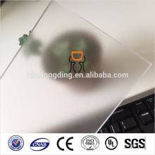 1.5mm helada hoja de policarbonato transparente para silla de mat