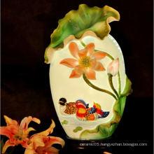 Ceramic AFFECTIONATE COUPLES lamp shade, lotus pond lamp shade