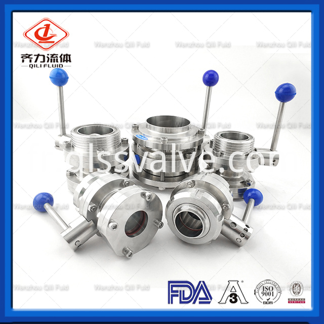 Sanitary Stainless Steel Butterfly Valve 174