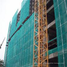 Защита от падения ПНД зеленого цвета конструкции здания защитную сетку
