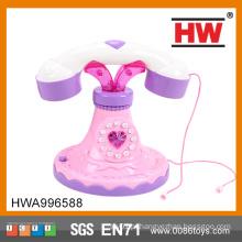 Clássico para meninas B / O com luz e som cor rosa telefone engraçado