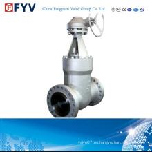 Válvula de compuerta con sello de presión API 600 PTFE Peek Rtfe