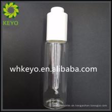50ml Luxus Bart Balsam transparent gefärbte kosmetische Behälter Dünnwandige Glasflasche mit Presse Dropper
