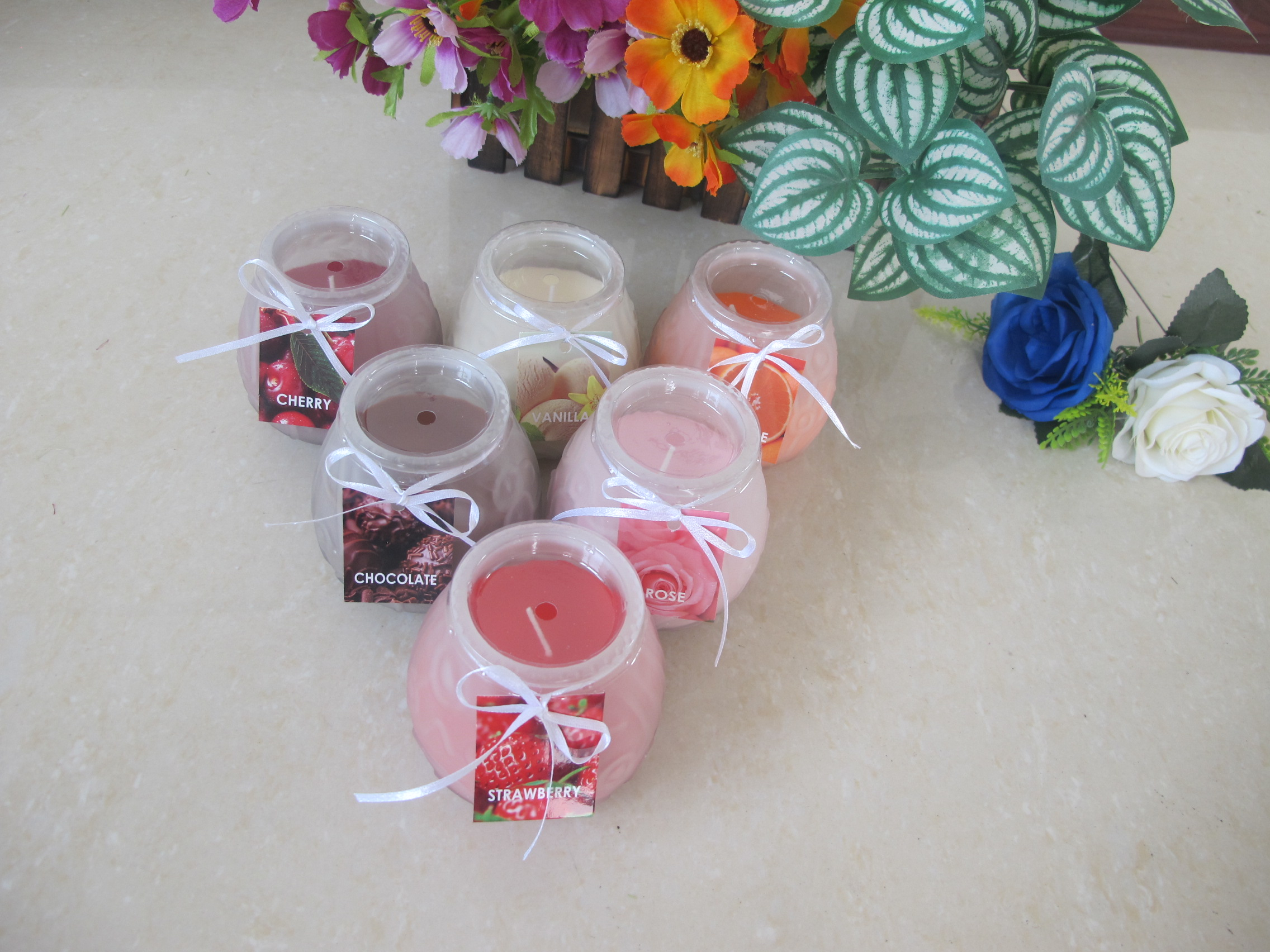 Glass Candles Gift Set