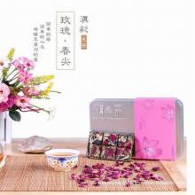 PU-Erh Mini thé fermenté avec belle saveur de Rose dans une boîte cadeau