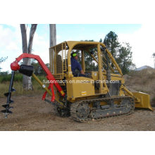2019 New 35HP Small Crawler Tractor with Auger Attachment for Sale